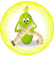 Cucumber with measuring tape vector image