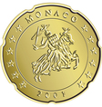 gold monaco money vector image