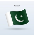 Pakistan flag waving form vector image