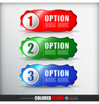 Set of 3 steps icons vector image