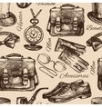 Sketch gentlemen accessories vector image