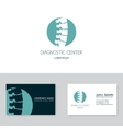 Spine diagnostic center logo vector image