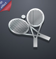 tennis icon symbol 3D style Trendy modern design vector image