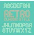 Vintage alphabet eps10 vector image