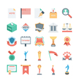 Vote and Rewards Colored Icons 4 vector image