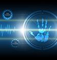 scan handprint technology background vector image vector image