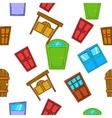 Opening door pattern cartoon style vector image vector image