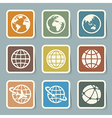 Earth icons set vector image vector image