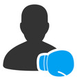 boxing sportsman flat icon vector image