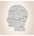 Head of words2 vector image vector image