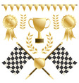 chequered flags vector image
