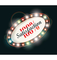 Abstract retro light sign 100 satisfaction vector image