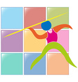 Sport icon for pole vault vector image