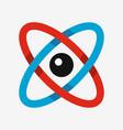atom icon science symbol vector image