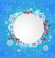 christmas banner with white paper snowflakes vector image
