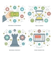 Flat line Strategy Investment Time Management vector image