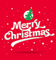 marry christmas logo vector image