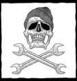 mechanic skull poster vector image