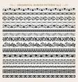 ornamental border frame line vintage patterns 2 vector image
