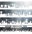 Set of industrial skyline vector image