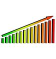 3D Chart diagram arrow lift vector image