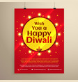 amazing diwali festival flyer template vector image