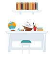 table with equipment for education vector image