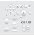 Light Web UI Elements Design vector image