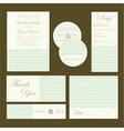 wedding invitations set green vector image