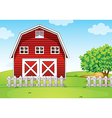 A barnhouse at the hilltop vector image vector image