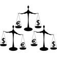 euro dollar vector image vector image