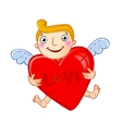Cupid with heart vector image vector image