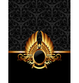 ornate frame with golden label vector image vector image