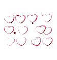 Grunge heart shape prints vector image