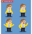 Business emotions icons vector image
