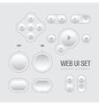 Light Web UI Elements Design vector image