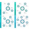 Minimalistic creative 3-6 infographic charts vector image