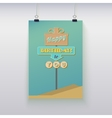 Poster hanging with birthday greetings vector image
