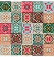 Gorgeous seamless mix pattern from colorful floral vector image