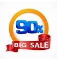 Big sale inscription label vector image vector image