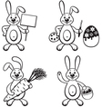 bunny set vector image vector image