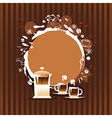 Abstract Background with Cup and Coffee Stain vector image vector image