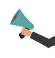 megaphone in hand bullhorn communication message vector image