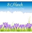 crocus flower background vector image vector image