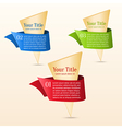 Set of gold banners with ribbon vector image