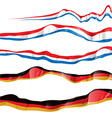 france and germany flag set vector image vector image