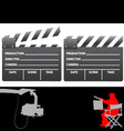 clapboard and director vector image vector image