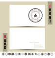 Set of blank retro vintage badges and labels card vector image vector image