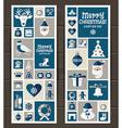 Christmas set of icons vector image