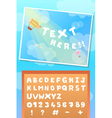 edible fluffy text cloud font and balloon on vector image